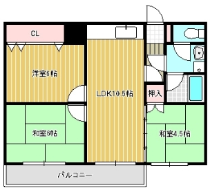 ISE伊勢住宅高師浜6801 間取り